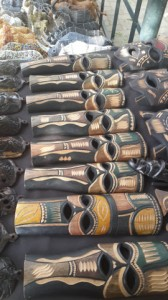 African Art Example: Wood carved masks